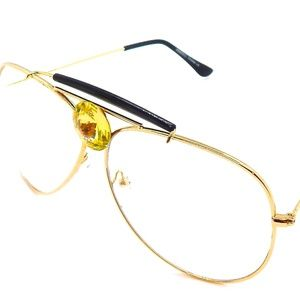 PANTHER POWER ROYAL YELLOW CLEAR AVIATORS NEW